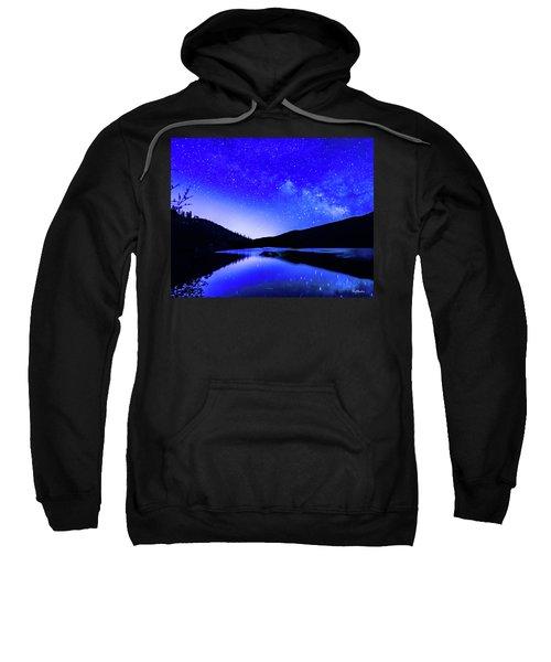 Milky Way Over Springtime Echo Lake Sweatshirt