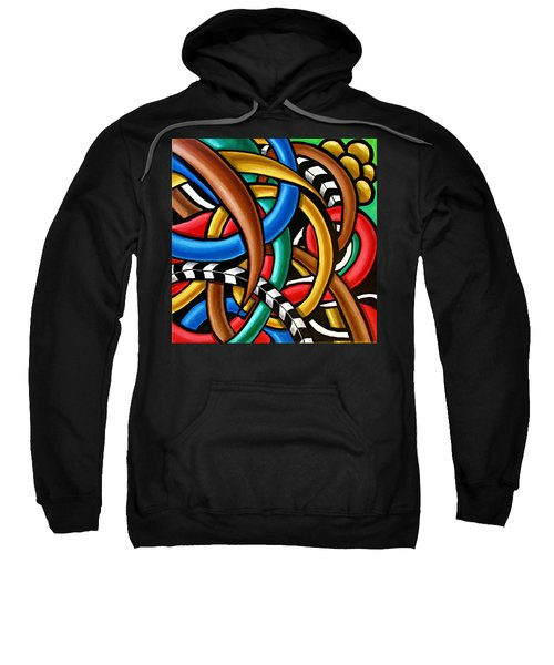 Colorful Abstract Art Painting Chromatic Intuitive Energy Art - Ai P. Nilson Sweatshirt