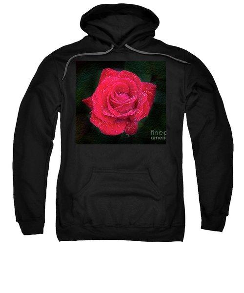 Morning Mist On Red Rose Sweatshirt