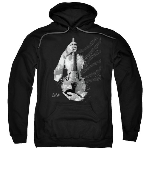 My Violin Whispers Music In The Night In Black And White Sweatshirt