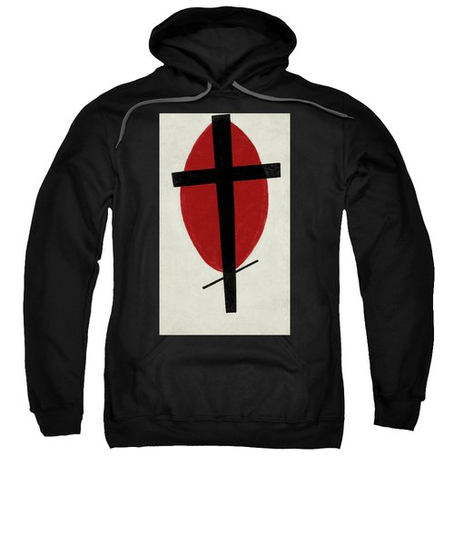 Mystic Suprematism - Black Cross On Red Oval, 1920-1922 Sweatshirt