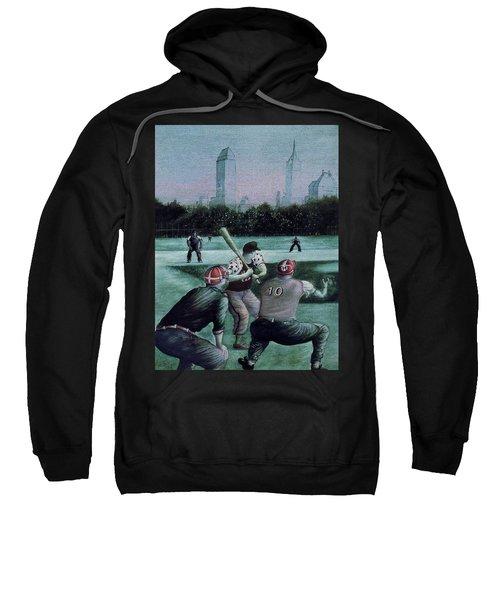 New York Central Park Baseball - Watercolor Art Painting Sweatshirt