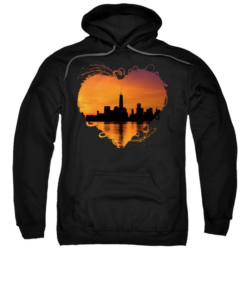 New York City Manhattan Sunrise Skyline Sweatshirt