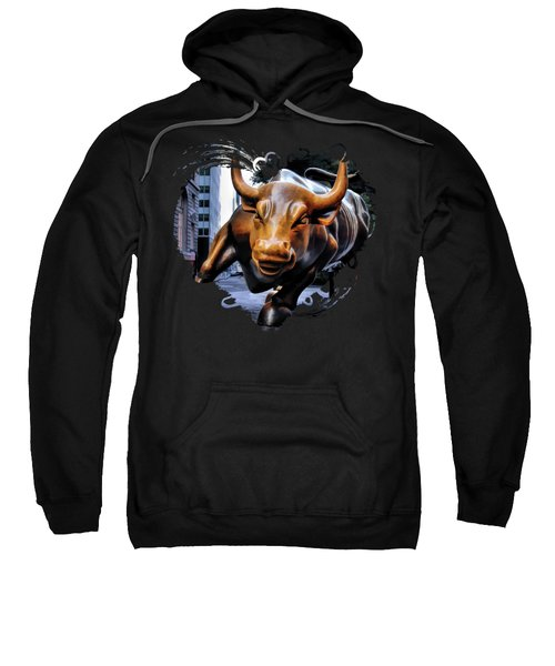 New York City Wall Street Charging Bull Sweatshirt