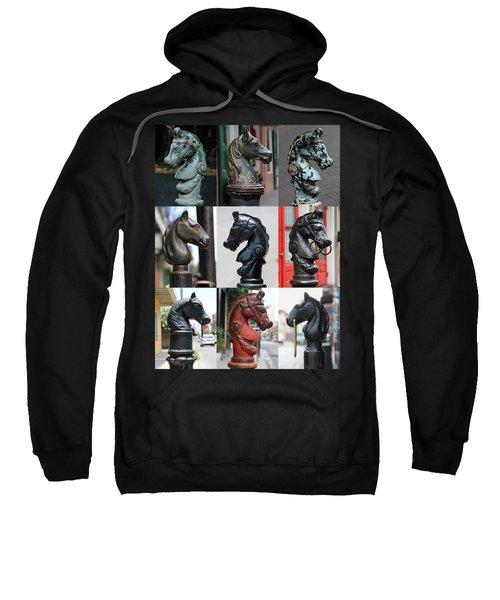 Nine Horse Head Hitching Posts Sweatshirt