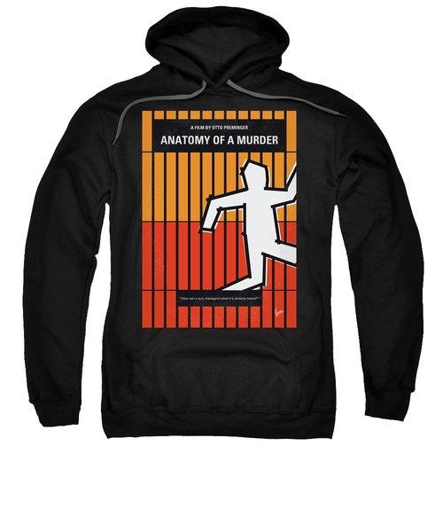 No1054 My Anatomy Of A Murder Minimal Movie Poster Sweatshirt