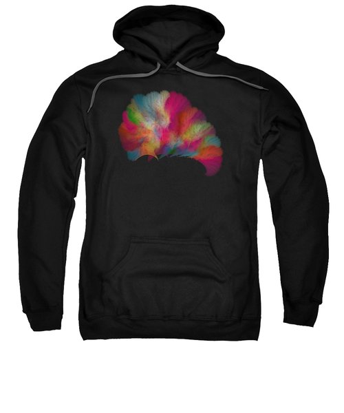Ocean Fan Coral  Detailed Fractal  Sweatshirt