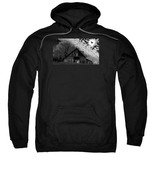 Old Barn Witch On A Broom In The Moon Sweatshirt