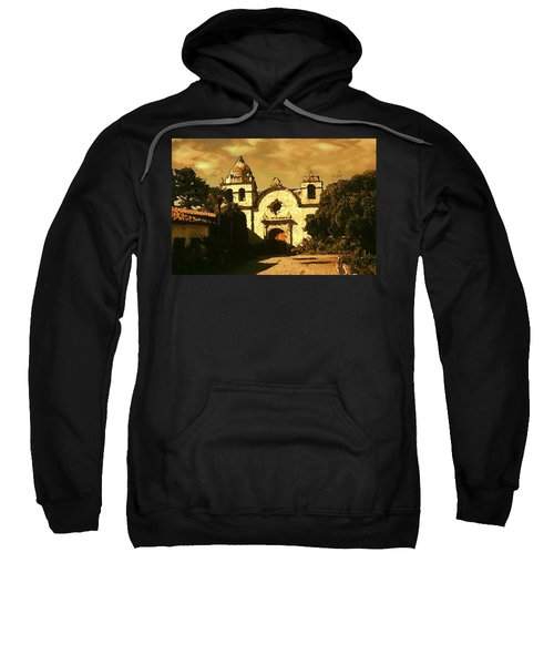 Old Carmel Mission - Watercolor Painting Sweatshirt