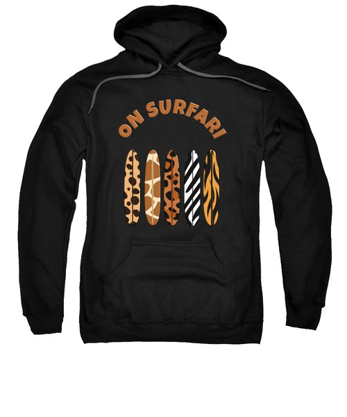 On Surfari Animal Print Surfboards  Sweatshirt