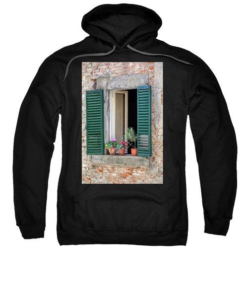Open Window Of Tuscany Sweatshirt