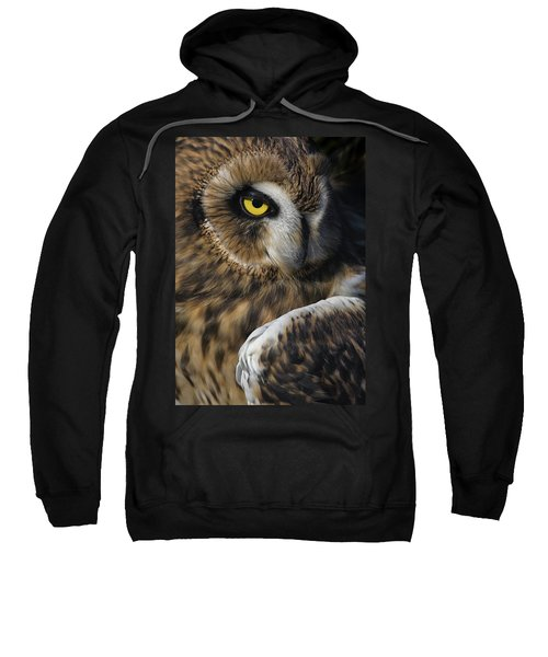 Owl Strikes A Pose Sweatshirt