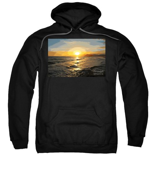 Pacific Sunset Impressionism, Santa Monica, California Sweatshirt