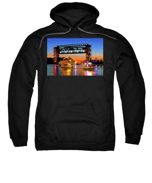 Parade Of Lighted Boats Sweatshirt