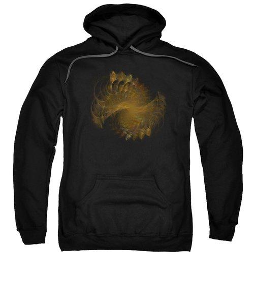 Peacock Fractal Gold Transparent Sweatshirt