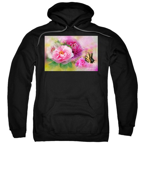 Peonies And Butterfly Sweatshirt