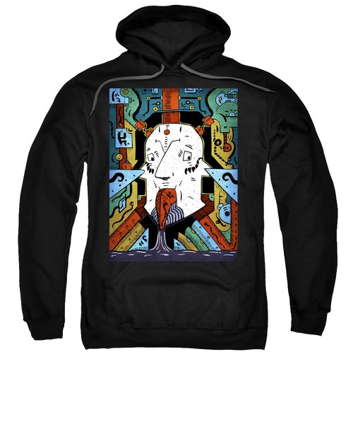 Sweatshirt featuring the drawing Petroleum by Sotuland Art
