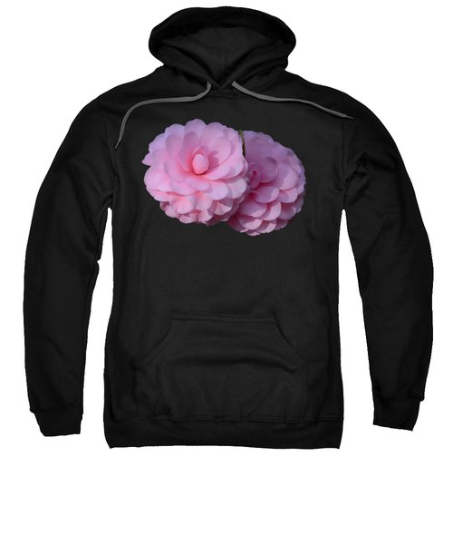 Pink Camellias Sweatshirt