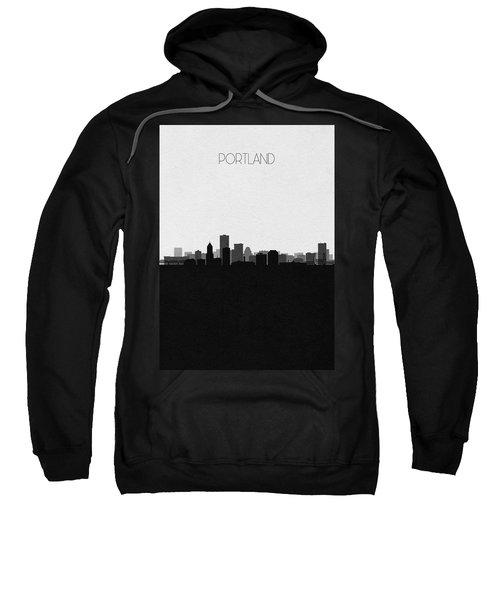 Portland Cityscape Art V2 Sweatshirt