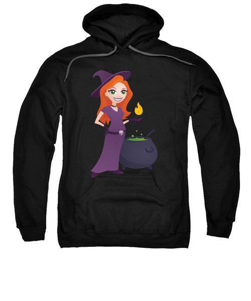 Pretty Witch With Cauldron Sweatshirt