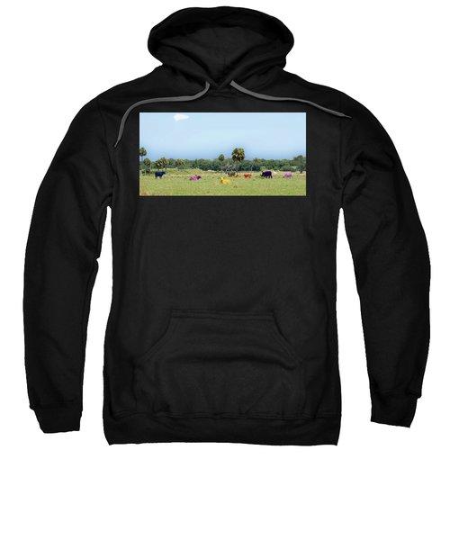 Psychedelic Cows Sweatshirt
