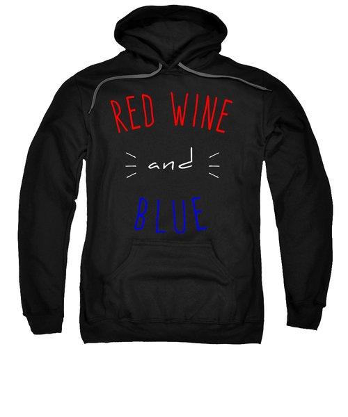 Red Wine And Blue Sweatshirt