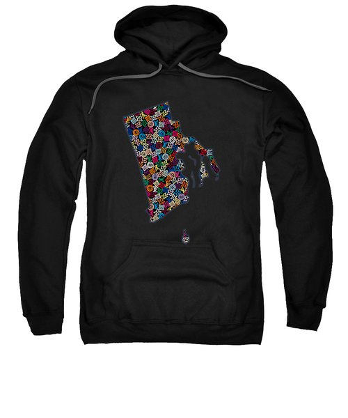 Rhode Island Map - 2 Sweatshirt