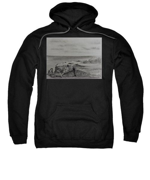 Rocky Shoreline At Isla Mujeres Sweatshirt