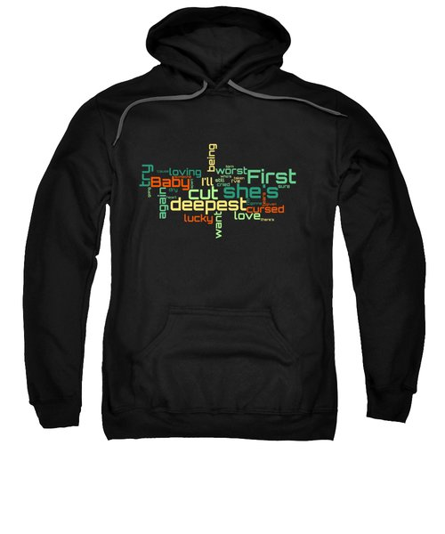 Rod Stewart - First Cut Is The Deepest Lyrical Cloud Sweatshirt