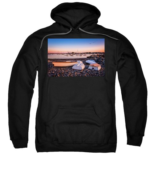 Rowboats At Rye Harbor, Sunset Sweatshirt