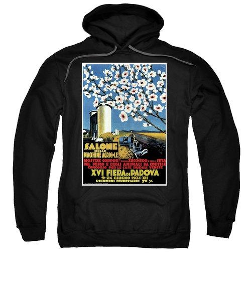Salone Delle Macchine Agricole - Padova, Padua, Italy - Retro Travel Poster - Vintage Poster Sweatshirt