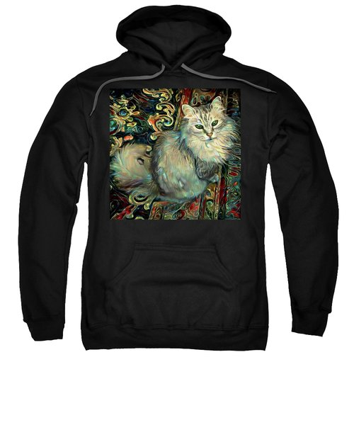 Samson The Silver Maine Coon Cat Sweatshirt