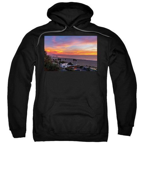 Santa Monica Pier Sunset - 11.1.18  Sweatshirt