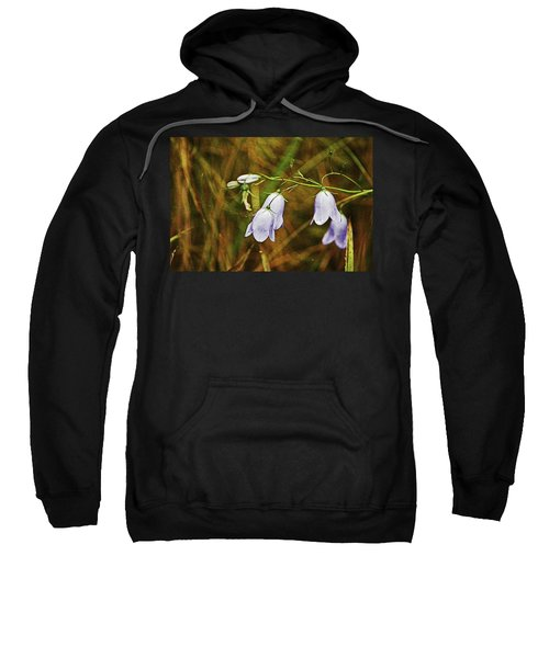 Scotland. Loch Rannoch. Harebells In The Grass. Sweatshirt