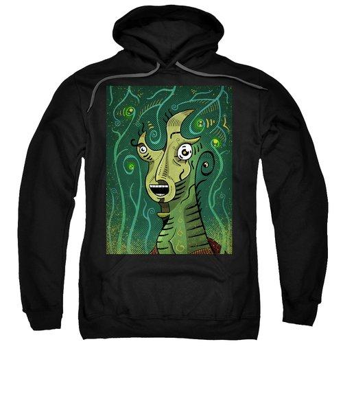 Sweatshirt featuring the digital art Scream by Sotuland Art