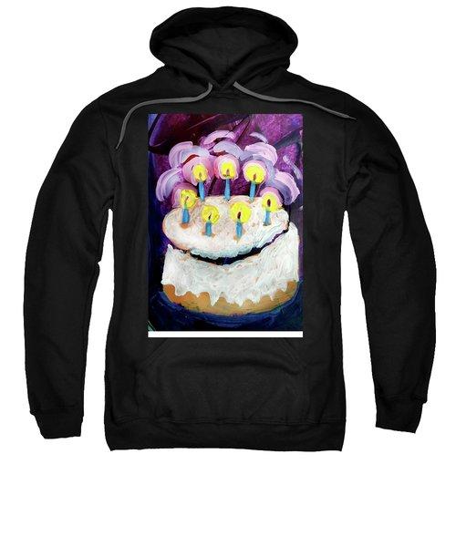 Seven Candle Birthday Cake Sweatshirt