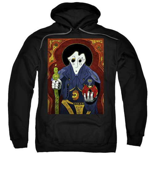 Sweatshirt featuring the painting Shadow Priest by Sotuland Art