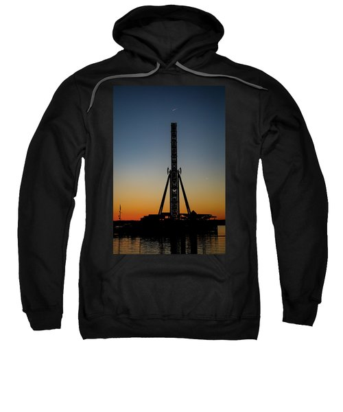 Silhouette Of A Ferris Wheel Sweatshirt
