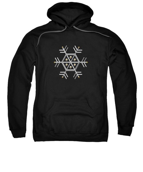 Silver And Gold Snowflake 2 At Midnight Sweatshirt