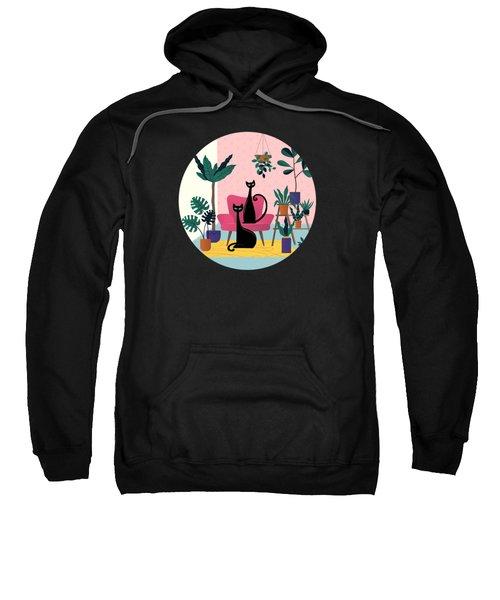 Sleek Black Cats Rule In This Urban Jungle Sweatshirt