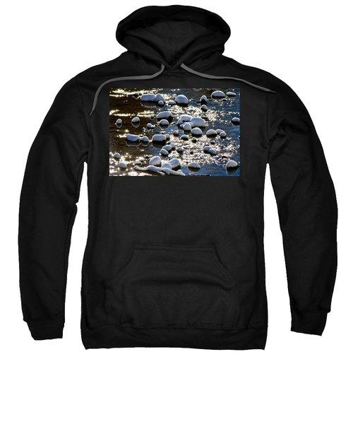 Snow Covered Rocks Sweatshirt