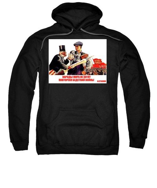 Soviet Cold War Poster Sweatshirt