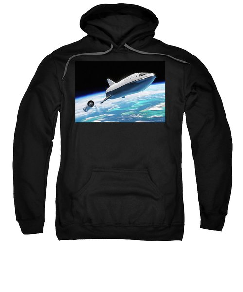 Spacex Bfr Big Falcon Rocket With Earth Sweatshirt
