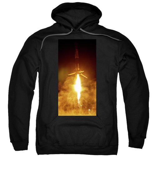 Spacex Falcon 9 Booster Landing At Night Sweatshirt