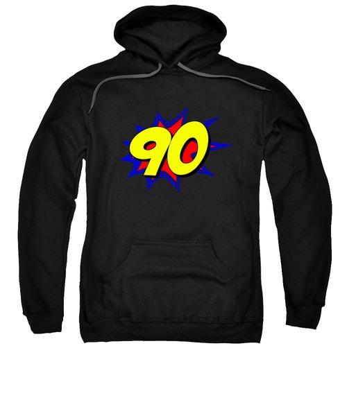 Superhero 90 Years Old Birthday Sweatshirt