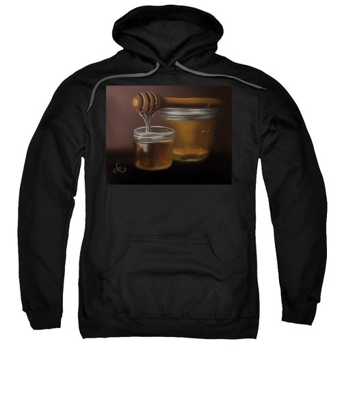 Sweatshirt featuring the painting Sweet Honey by Fe Jones