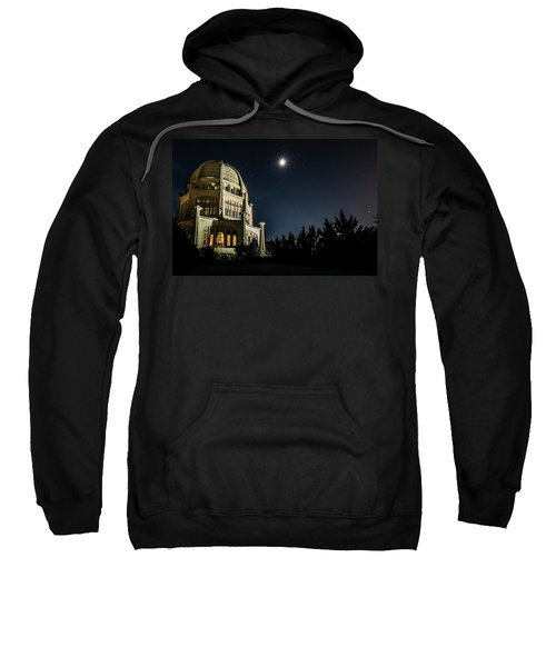 The Bahais Temple On A Starry Night Sweatshirt