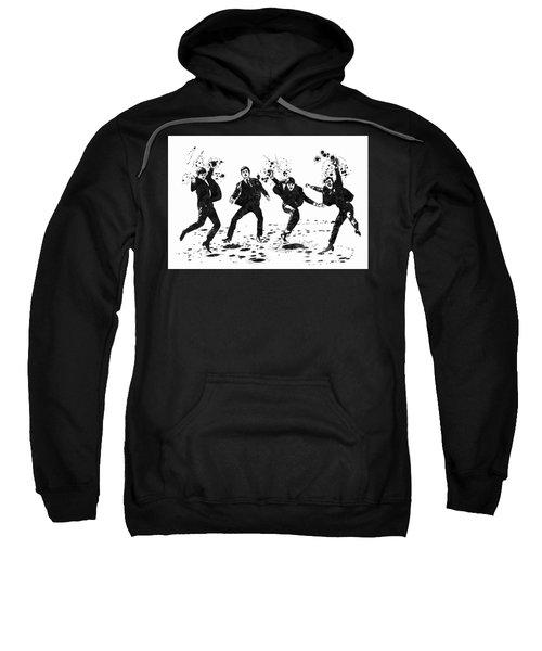 The Beatles Black And White Watercolor 01 Sweatshirt