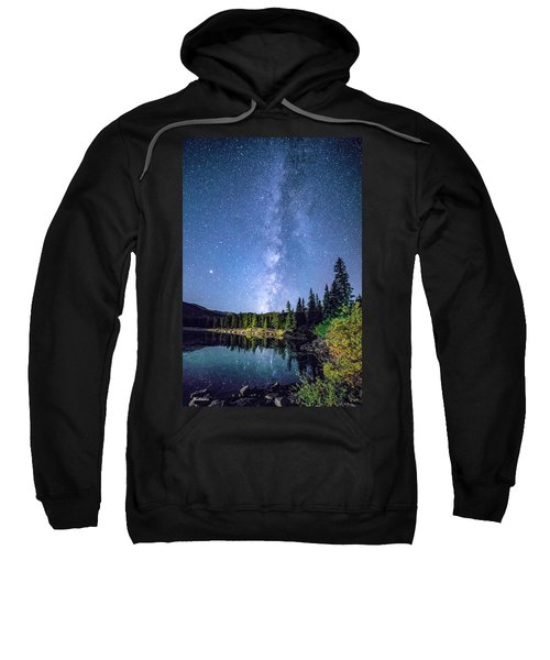 The Milky Way Over Echo Lake Sweatshirt