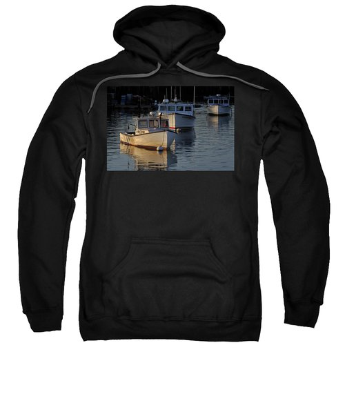 Three Boats In Maine Sweatshirt
